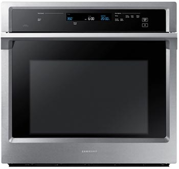 30 inch electric wall oven with steam cooking option